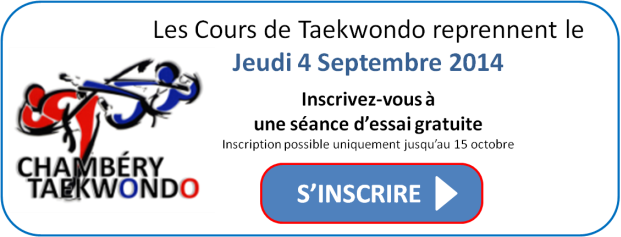 Inscription Taekwondo Chambéry